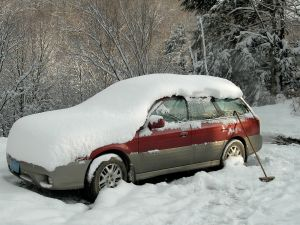 My Subaru after a dusting of snow.
